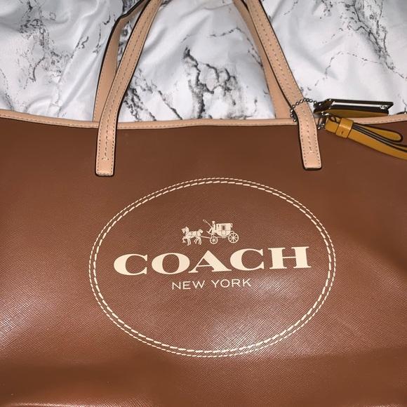 Coach Handbags - Coach Small Brown Tote Bag
